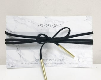 wrapped Choker with touch of gold