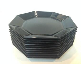 Vintage Octime Black Salad Plate