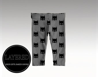 Batkid Baby Leggings- Baby Clothes - Gender Neutral - Hipster Baby Clothes