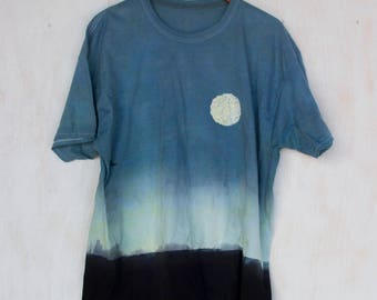 Crows and Moon Shirt   Solitude   Flock   Nature   Blue   Red   Yellow