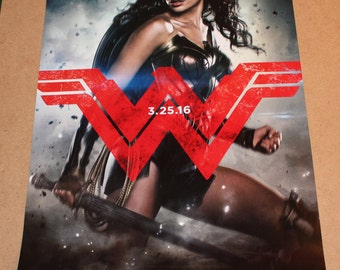 Batman VS Superman 17x11.5 Movie Poster 3 LOT