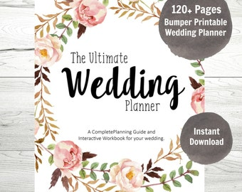 Wedding Planner, Printable Wedding Binder, DIY planning organizer, Instant Download PDF