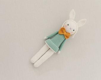 JOSEPHINE Amigurumi Crochet Bunny Rabbit Doll Handmade Toy - made to order