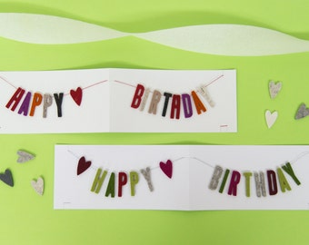 Quadu Birthday Card – Happy Birthday – Garland