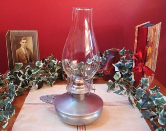 Vintage Pewter Eagle Finger Oil Lamp Burner