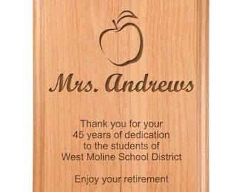 Teacher Retire Plaque