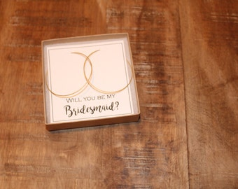 Gold Ultra Thin Hoops Wedding Jewelry, Bridesmaid Jewelry | Will You Be My Bridesmaid | Thanks for helping me tie the knot