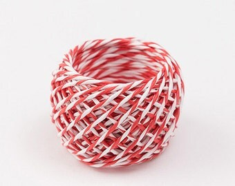 Red paper string, Paper Twine, Gift wrapping, Crafting String, Colored Paper cord, Japanese wrapping