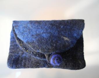 Clutch, Pochette, Wool Pochette, Wool Clutch, Dark red clutch, Handmade clutch, Merino Wool clutch