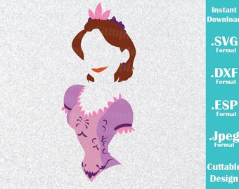 INSTANT DOWNLOAD SVG Disney Inspired Princess Rapunzel from Tangled for Cutting Machines Svg, Esp, Dxf and Jpeg Format Cricut Silhouette