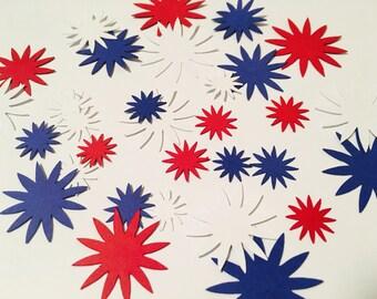 Blue/Red/White Star Confetti