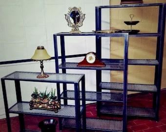 bookcase, Metal Bookcase, Recycled Metal Bookcase, Steel Bookcase, Industrial Bookcase, Industrial Decor