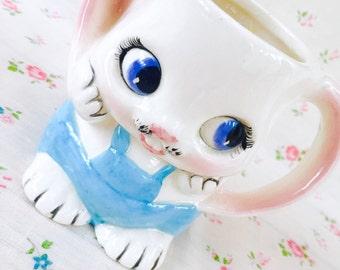 Vintage Easter Bunny Rabbit Coffee Mug, Vintage Easter Bunny Rabbit Planter, Vintage Easter Gift, Easter Basket Stuffer, Easter Coffee Cup