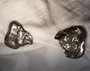 Silver Tear Earrings
