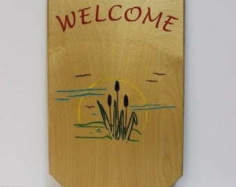 Welcome (Cattail) Sign