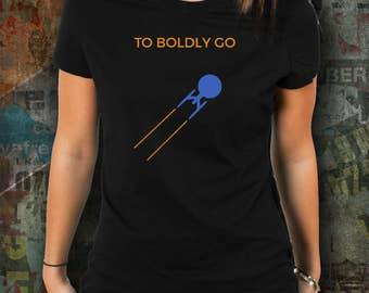 Star Trek T-Shirt - To Boldly Go - Trekkie Shirt - Birthday Gift for Trekkies