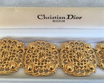 Dior vintage bracelet monogram logo