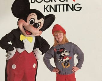 Vintage The Disney Book of Knitting