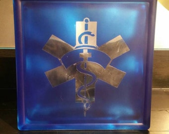 Health Care Special Occasion Glass Block