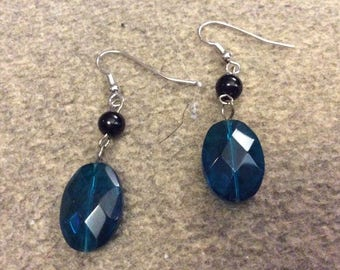 Electric Blue Glass Bead Earrings