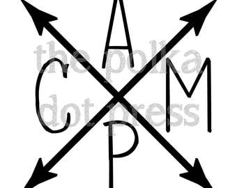 Vinyl Decal, Camp Arrows, Camp Trunk Sticker