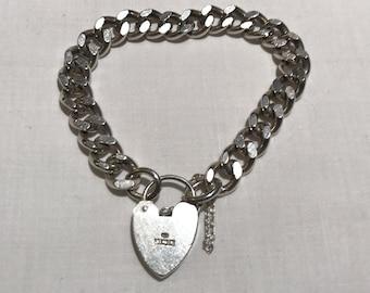 Heavy Sterling Silver Curb Link Bracelet