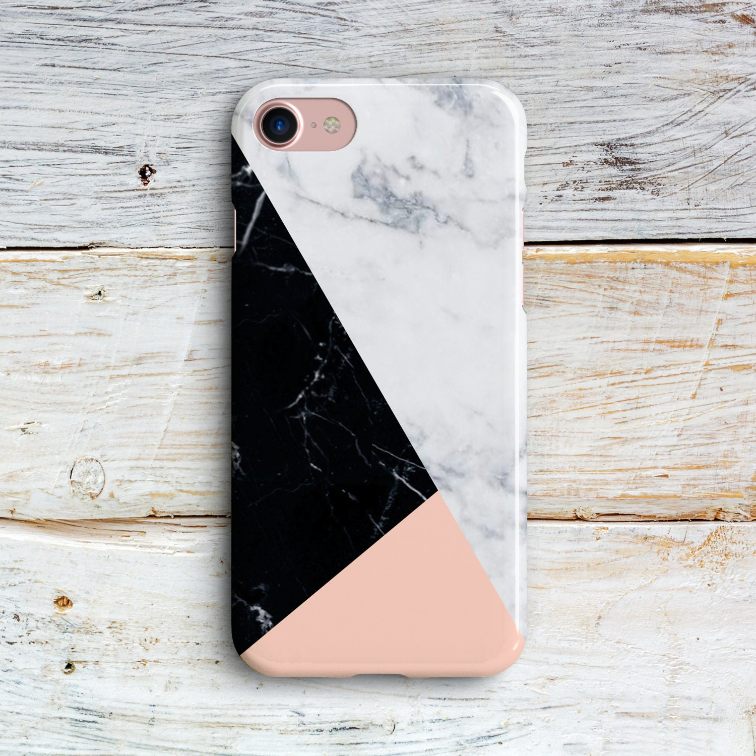 Geometric Marble IPhone 8 Plus 7 Case White Cracked 6s