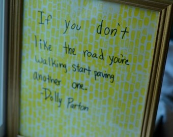 Yellow Brick Road inspired printed poster