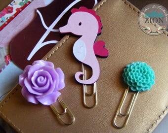 Seahorse Paper Clip | Planner Clip | Happy Planner | Seahorse Scrapbook | Set Mixed