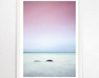 Sunrise Print, Sunrise Photography, Sunset Wall Art, Ocean Print, Sunrise Art, Nature Photography, Clouds Print, Pink Wall Art, Sunset Art