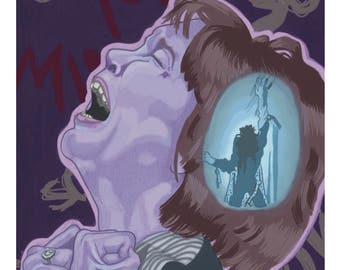 8x10 The Exorcist Inspired Horror Movie Print