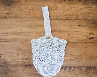 Crochet Market Bag--Light Blue