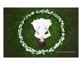 Crown of flowers-flower photography for wreath circle magical Princess pregnancy props photographer accessory