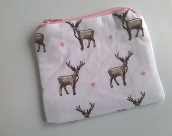 Winter stag coin purse