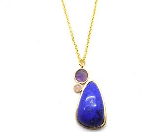 Gaea Necklace - Gold - Lapis Lazuli