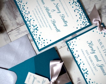 KIRSTY wedding invitation with inserts *SAMPLE*