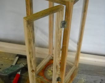 Lantern from table with drawer