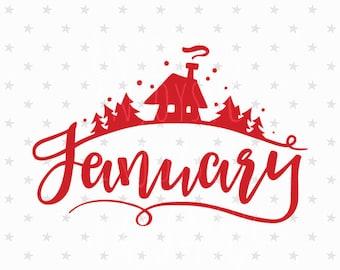 Hello winter svg January SVG New Year 2017 svg January svg file Christmas Svg Christmas svg file Winter svg Winter Silhouette svg Winter Svg