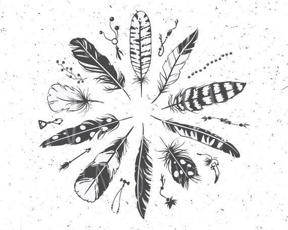 Boho Feathers Svg Boho Feathers Svg File Boho Svg Feather Svg