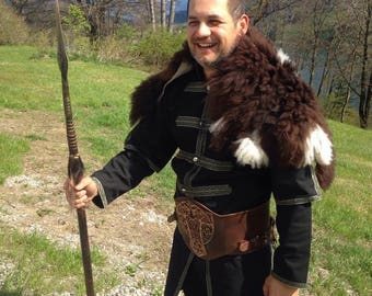Lambskin Merino natural traditional Rustico for larp and middle ages