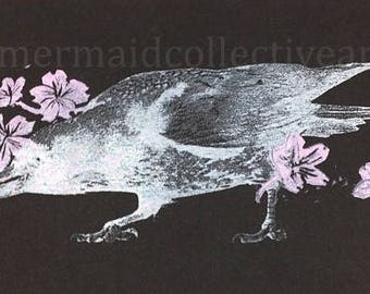 Nevermore Woodblock Print