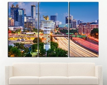 Atlanta print Atlanta canvas Atlanta wall art Atlanta wall decor Georgia Cityscape Atlanta photo Atlanta canvas art Atlanta home decor