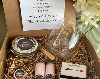 1 Bridesmaid proposal box,DIY proposal kit bridesmaid proposal  DIY kit, bridesmaids, bridesmaids gift, maid of honor, thank you gifts
