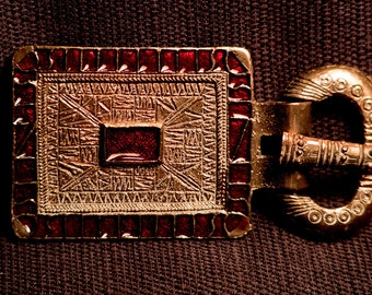 Frankish - buckle with red - W-32