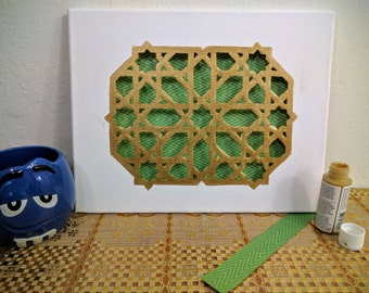 Cut out Canvas, Ottoman Design, Mother's day gift, Wall Decoration