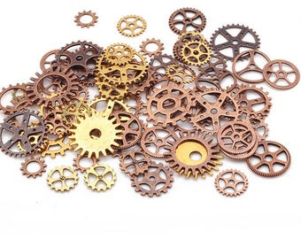 Vintage Metal Mixed Gears Charms 100Pcs Great Quality