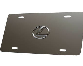 License Plate for Lexus - Brushed Aluminum