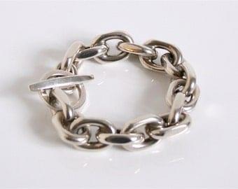 Large Heavy Randers Danish Vintage Chain Bracelet