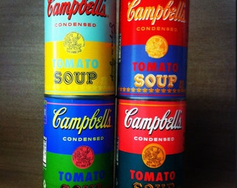 Andy Warhol 50th Anniversary Limited Edition Set Of 4 Tomato Soup Cans