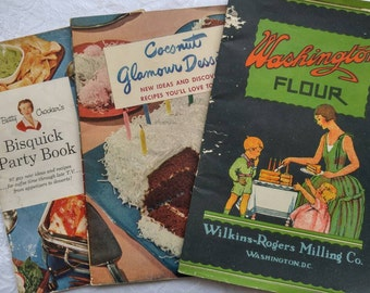 Vintage Cookbooks ~ Vintage 1950's cookbooks ~ vintage recipes ~ recipe pamphlets